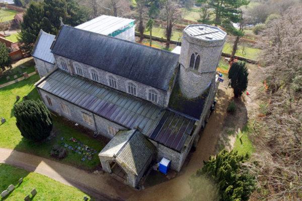 Sedgeford St Mary Drone photo