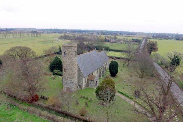 Lound St John the Baptist Drone photo