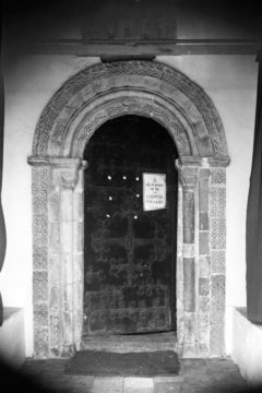 Haddiscoe St Mary's church Norman S door 10.07.1940