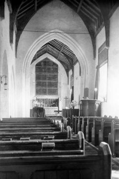 Haddiscoe St Mary's church interior view E 10.07.1940