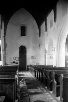 Haddiscoe St Mary's church interior view W 10.07.1940