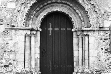 Hales St Margaret's church Norman N door (2) 09.03.1940