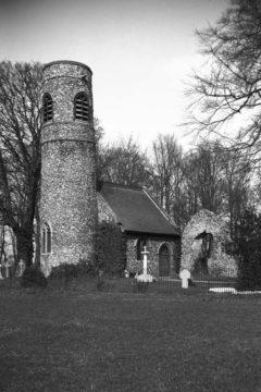 Keswick All Saints church ruin and tower 09.04.1939