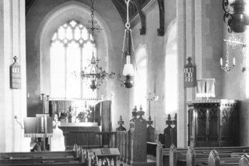Swainsthorpe St Peter's church interior E 02.03.1940