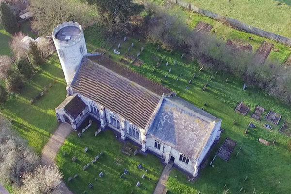 East Walton St Mary Drone Photo